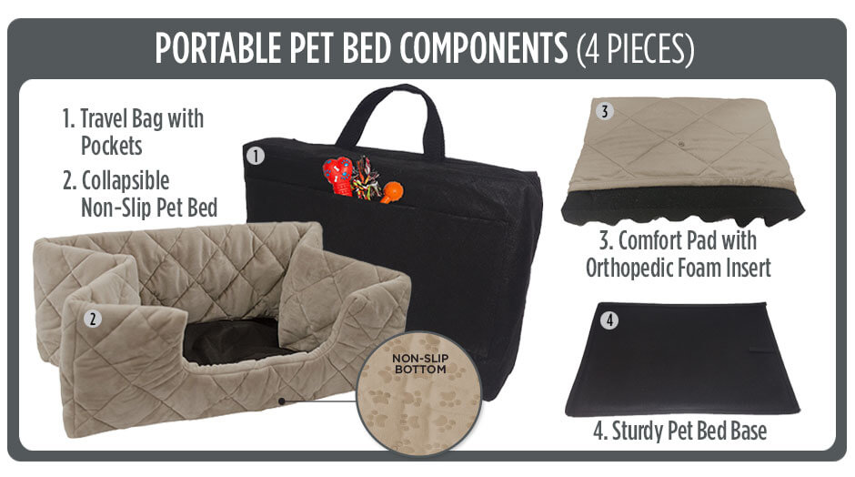 what comes with your pet bed