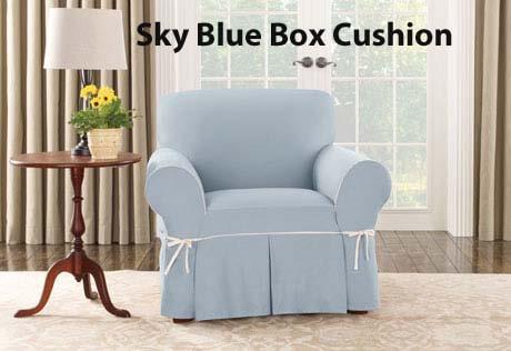 Chair with box cushion