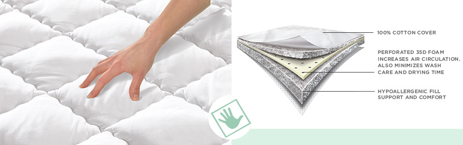 Mattress pad featuring memory foam