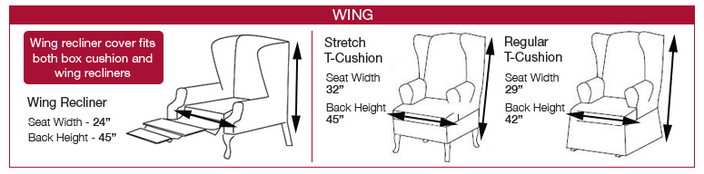 Sizing a wing chair cover
